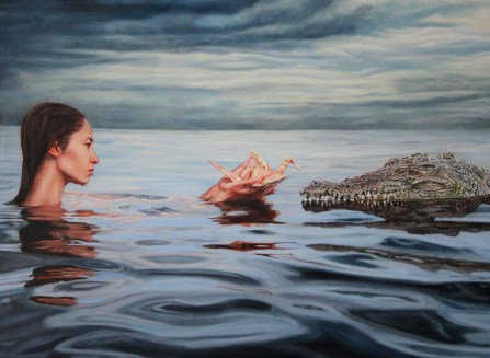 """""""Concessions"""", 30""""x22"""", Oil on Linen, Thinkspace Gallery, Dreams of Flight, SOLD"""