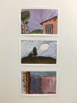 Layered Acrylic Paintings - Julia, Ellie, Josh