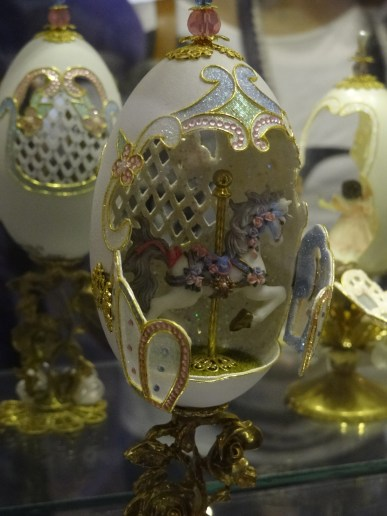 The Miniatures Museum of Taiwan - A miniature egg with carousel horse.