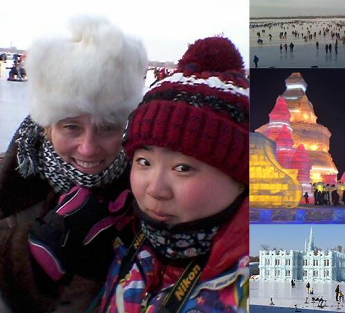 Dr. Emmett and guide Lu Ze , Harbin, China January 2016