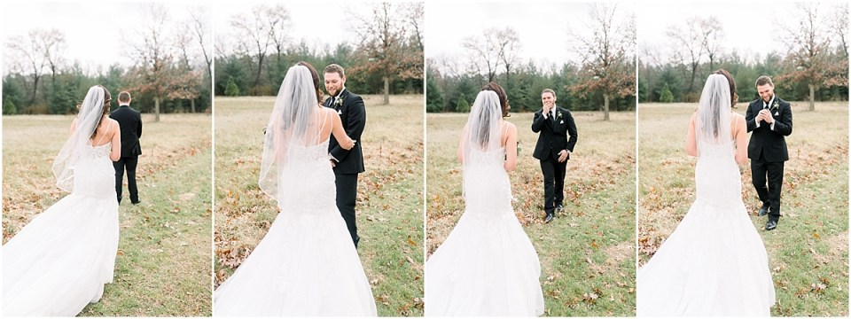 Arielle Peters Photography | Bride and Groom having first look on wedding day.
