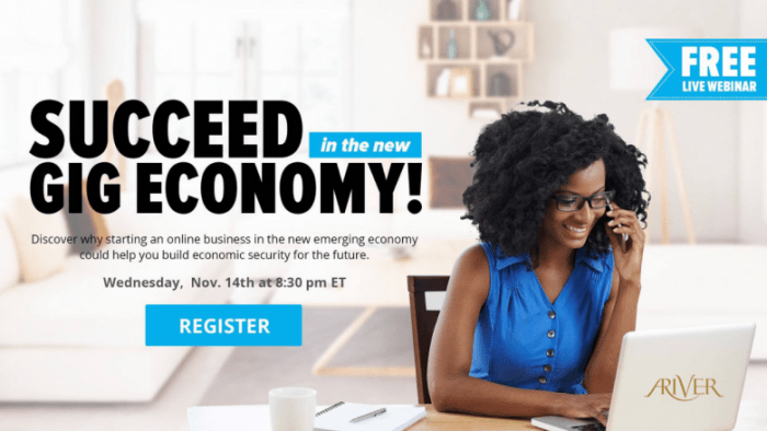 FREE LIVE WEBINAR – SUCCEED IN THE NEW GIG ECONOMY