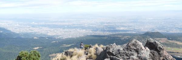 Vista de la Ciudad de México desde el Ajusco