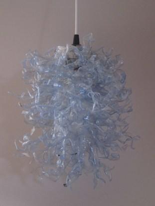 """""""Aequorea Victoria"""" Plastic bottles, pins, light 14""""x10""""x12"""""""