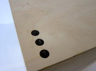 """ Secret Code "" Multi-birch plywood, bronze 17""x39""x16"""