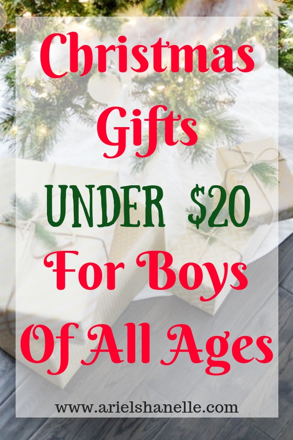 Budget friendly Christmas gifts under $20 for boys of all ages.