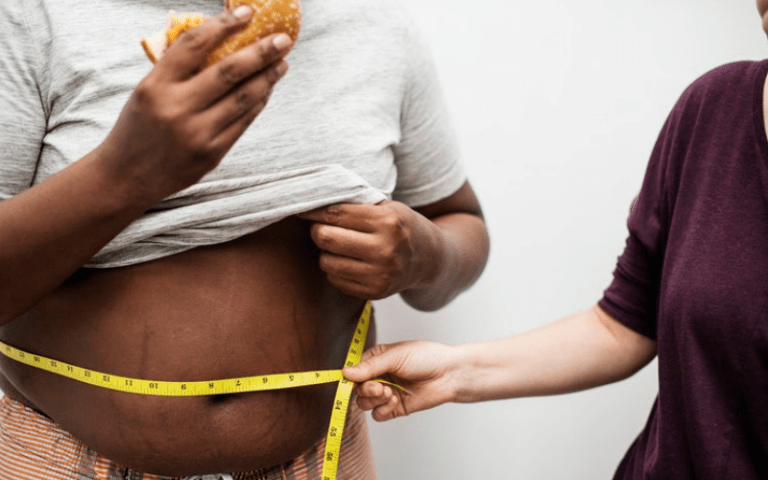 High fructose corn syrup leads to weight gain.