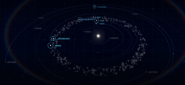 The Expanse solar system map