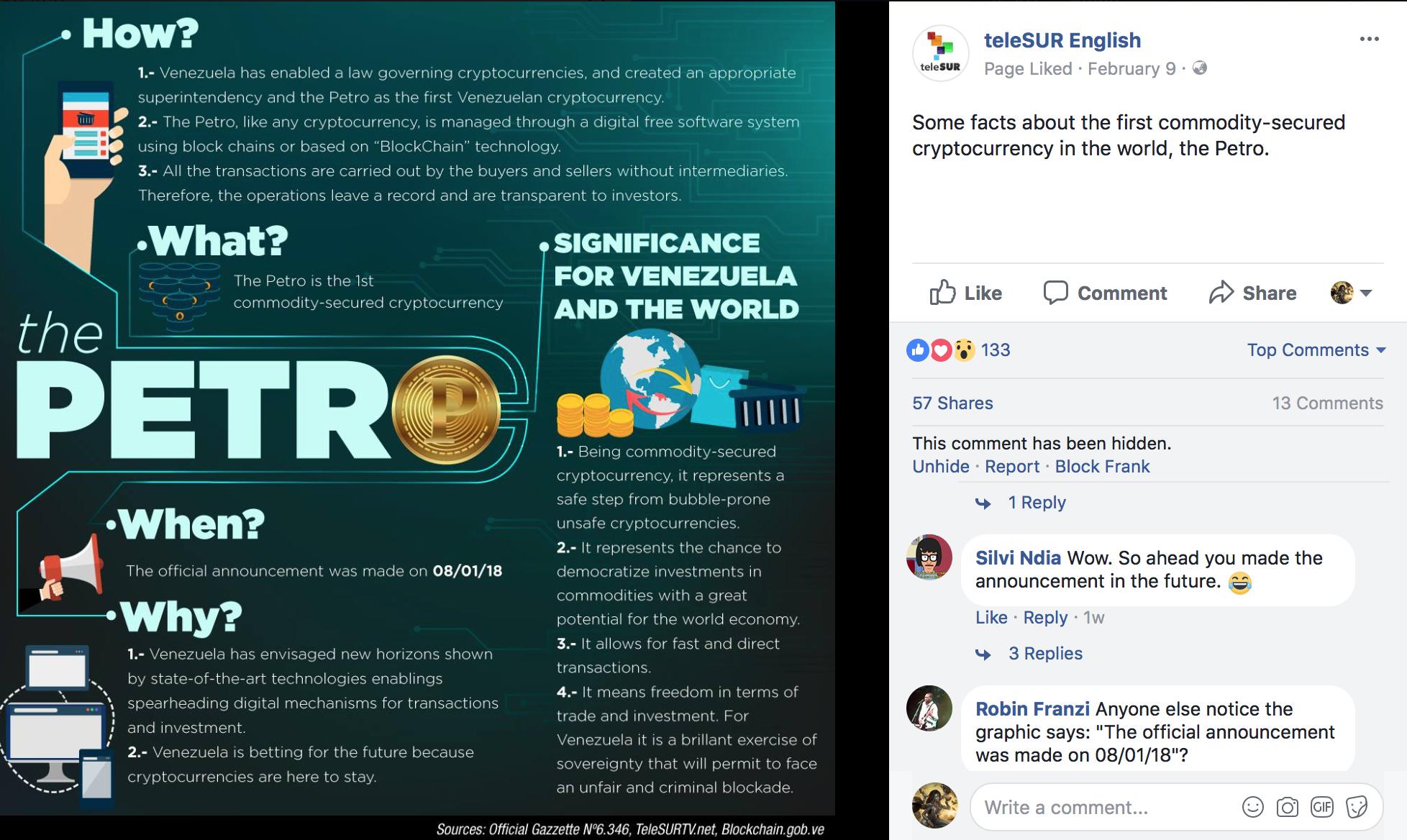 Venezuela ariel sheen telesur english infographic with incorrect information fandeluxe Gallery