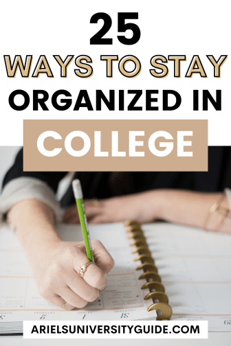 staying organized in college