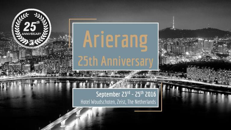 Arierang 25th Anniversary Weekend – Registration open