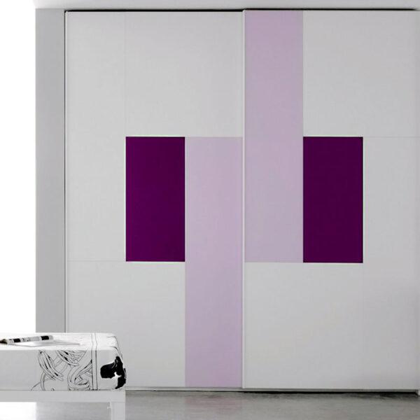 Aries Closet Door White Purple CSD 58 Acrylic Mdf Aries
