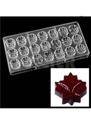 Cake Decor Leaf Shape Polycarbonate Chocolate Mould