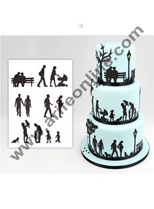 Cake Decor Family Silhouette Cutter Set by Patchwork Cutters