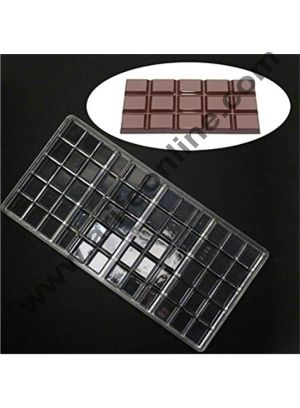 Cake Decor Polycarbonate Chocolate Bar Mould Clear Hard Plastic Candy Mold