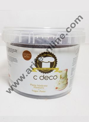 C Deco Sugar Paste (Fondant)-Brown 1KG