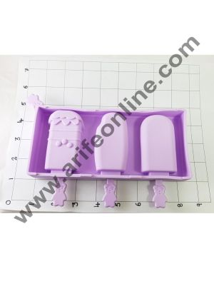Cake Decor 3 in 1 Bubbles Silicone Popsicle And Cakesicle Molds Tools With Dust Cover Sticks Frozen Mold Kitchen Accessories