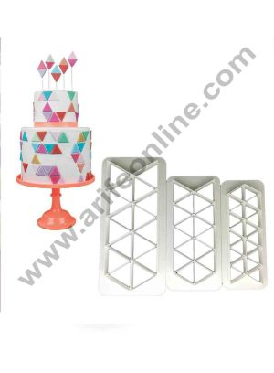 Cake Decor Geometric MultiCutters for Cake Design - Right-Angled Triangle - Small, Medium & Large Size, Set of 3