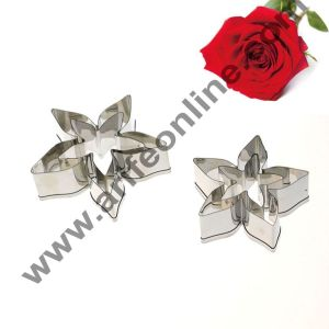 Cake Decor 4 Pcs Rose Calyx Cutter Set Bakeware Mould Biscuit Mould Set Sugar Arts Fondant Cake Decoration Tools