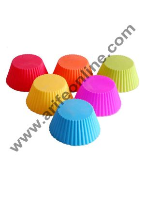 Cake Decor 6Pcs Reusable Silicone Baking Cups Cupcake Liners - Muffin Cups Cake Molds