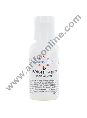AmeriColor Bright White 0.75 oz Soft Gel Paste Food Color (21g)