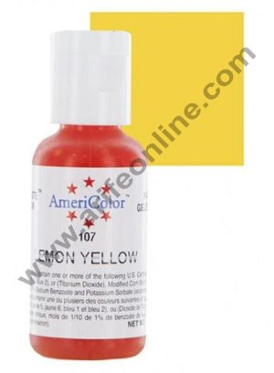 AmeriColor Lemon Yellow 0.75 oz Soft Gel Paste Food Color (21g)