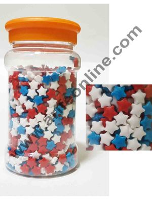 Cake Decor Red Blue White Color Star Sugar Candy