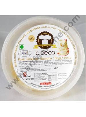 C Deco Sugar Paste (Fondant)-Cream 200 GRM