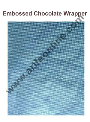 Cake Decor Chocolate Wrappering Foil, Embossed Chocolate Wrapper, 200 Sheets - 10in x 7in - Light Blue