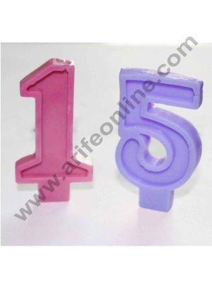 Cake Decor 10 cavity Numbers (0-9) in Blocks Chocolate Candy Ice Candle Soap Mold Silicone Soap Mold for Birthday Cake Toppers Ice Cream Decoration