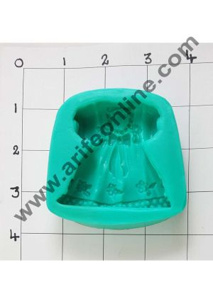 Cake Decor Silicon 1Pcs Baby Frock, Shower Shape Fondant Clay Marzipan Cake Decoration Mould