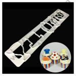Cake Decor 1 Pc Sports Trophy Football Rabbit Tappet Cutter Plastic Fondant Cutter Gumpaste Cutter