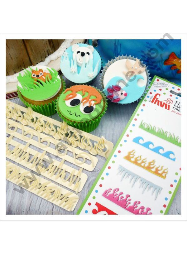 Cake Decor 4 Pc Earth Wind Fire Ice Themes Tappet Cutter Plastic Fondant Cutter Gumpaste Cutter 1