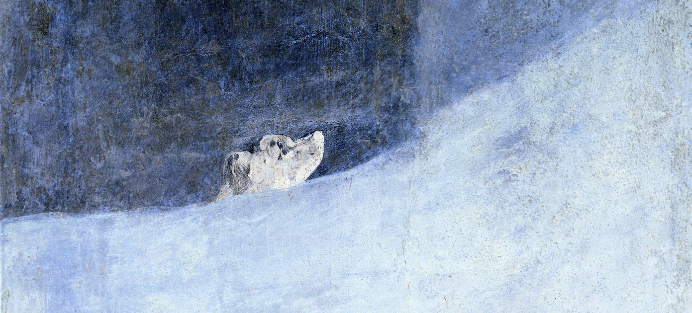 Perro Semihundido – Half-buried Dog – A beloved work by Francisco de Goya (seen from beyond…)