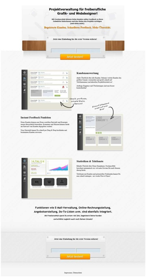 PSD to HTML optin Form