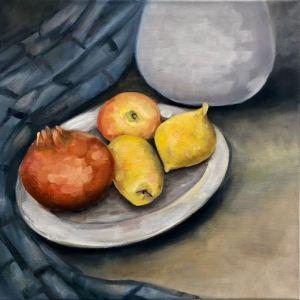 Stilleben Zitronen, Granatapfel
