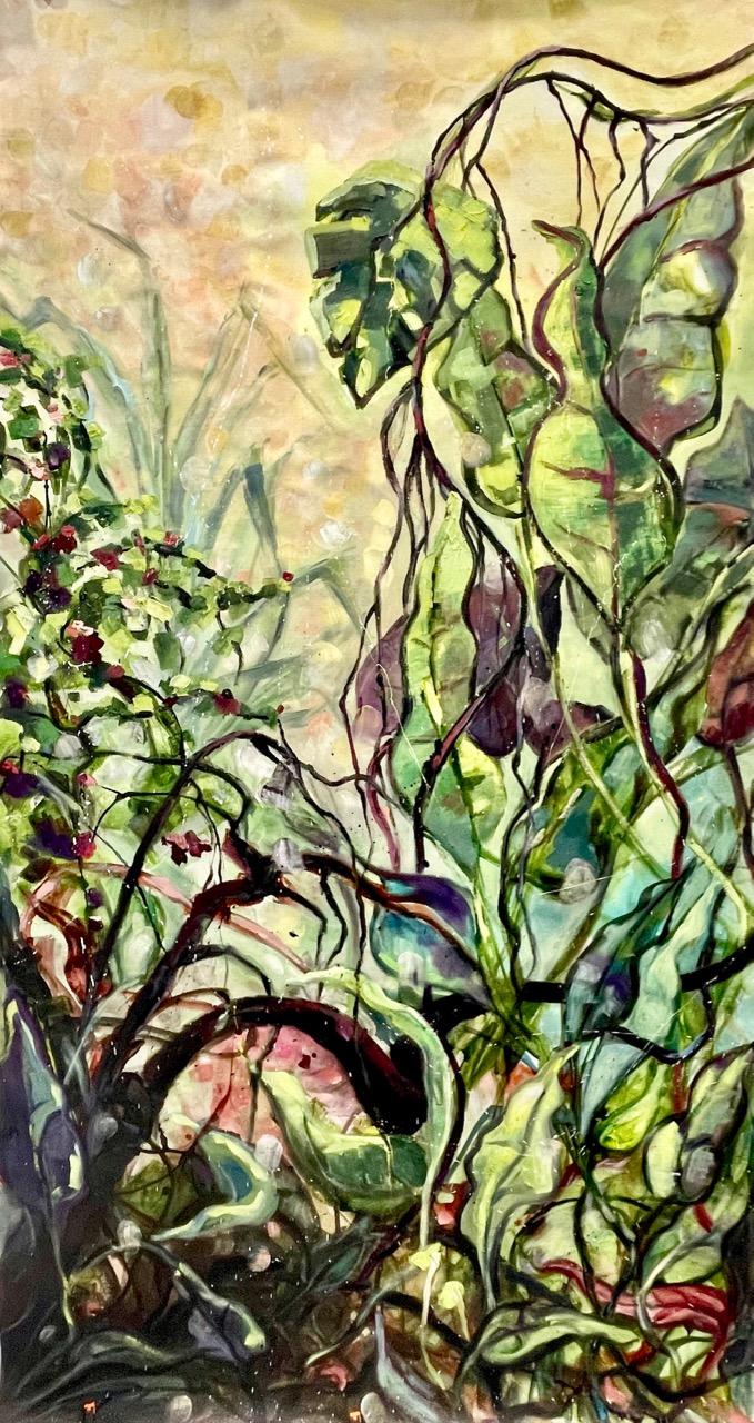 Dschungel, Arijana 2021, Öl/LW, 2m x 1m