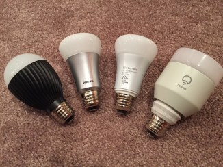 Left to Right: Misfit Bolt, Old Hue, New Hue, LIFX White