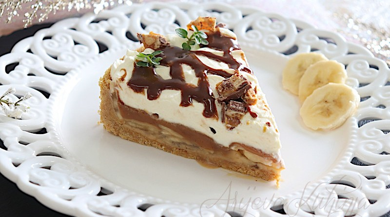Toffee-banana torta