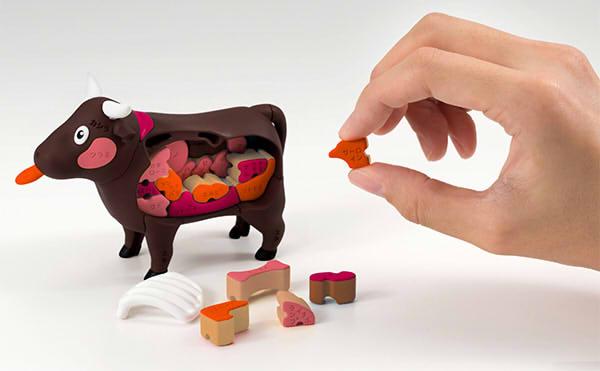 牛を丸ごと一頭買って牛肉の部位について学んでみよう!【一頭買い!特選焼肉パズル(ウシ)】