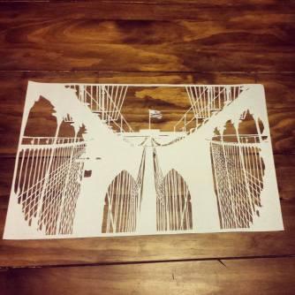 Brooklyn Bridge Papercut