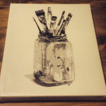 """Paintbrushes - 8"""" x10"""""""