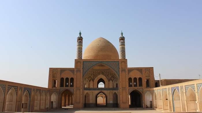 Agha Bozorg Mosque yard in Kashan, Iran.