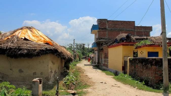 A path on going through rural village near Lumbini.