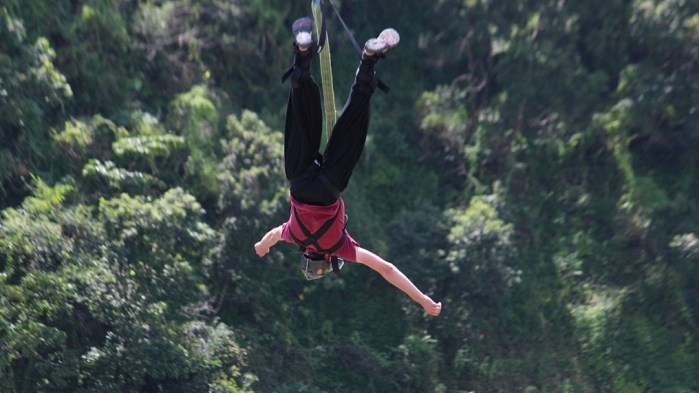 Pokhara bungee. Bungee jumping in Pokhara, Nepal.