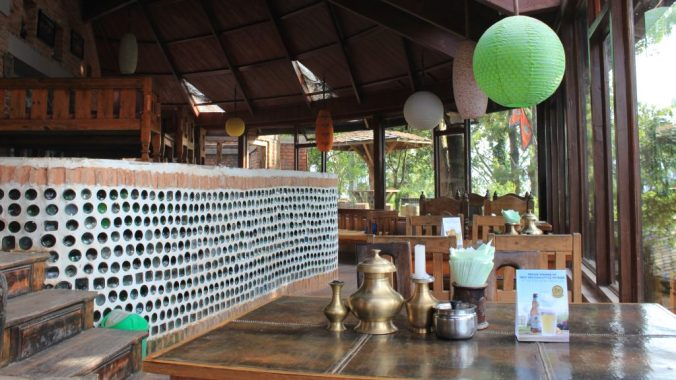 The restaurant of Hotel at the End of the universe in Nagarkot.