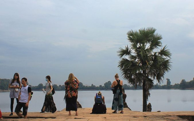 A body of water near a temple in Angkor, Siem Reap, Cambodia.