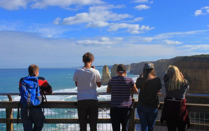 One of the viewpoints near the Twelve Apostles.