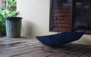 An umbrella in Fiji.