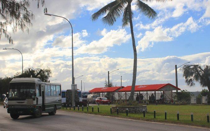 A street in Nuku'alofa, Tonga.